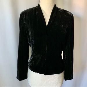 Ann Taylor women size 2 Black Velvet Jacket